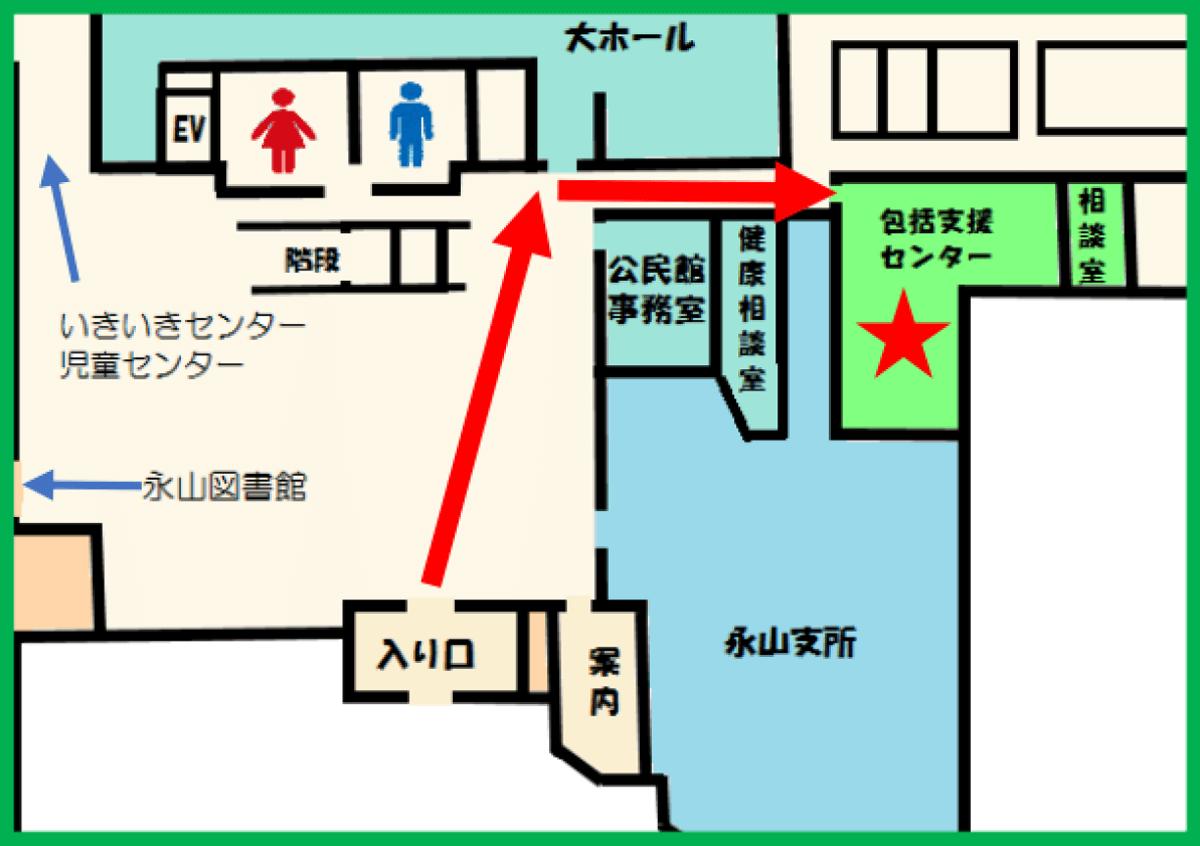 永山地域包括支援センターへの道順