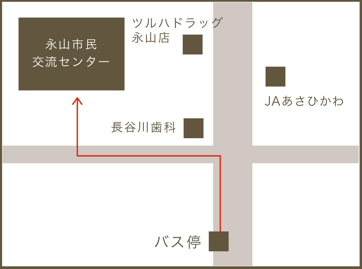 永山地域包括支援センターのちず