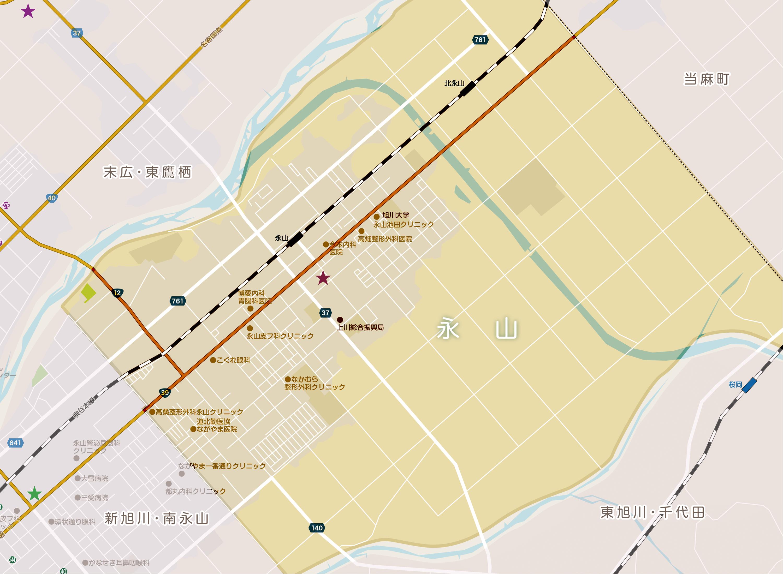 永山地域包括支援センターの地図