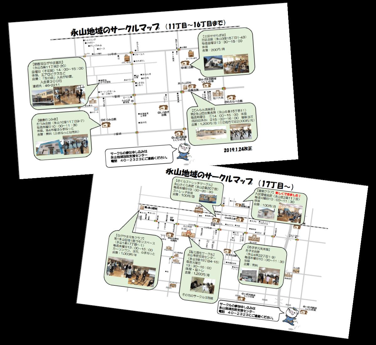 永山地域包括支援センターサークルマップ